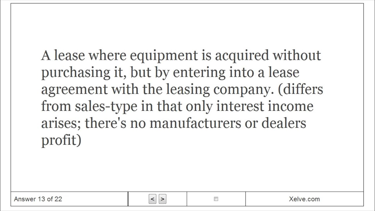 Fundamentals Of Corporate Finance 27 Leasing Flashcards Youtube