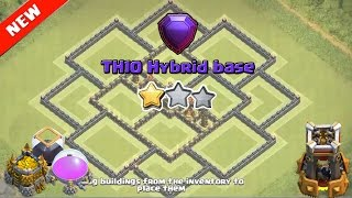 Clash of Clan ♦ Th 10 Hybrid base ♦Th10 hybrid base October update 2016 ♦ Th10 base with bomb tower