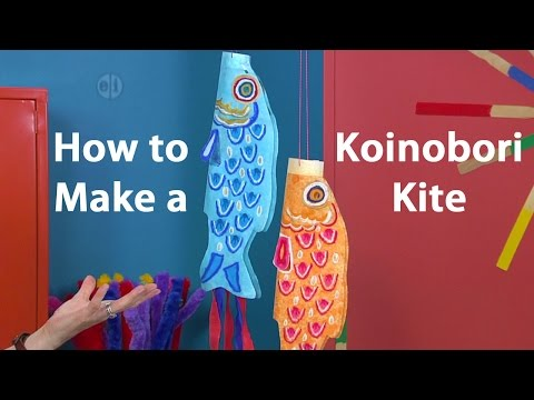 How To Make A Koinobori Japanese Kite: Oil Pastel Tutorial
