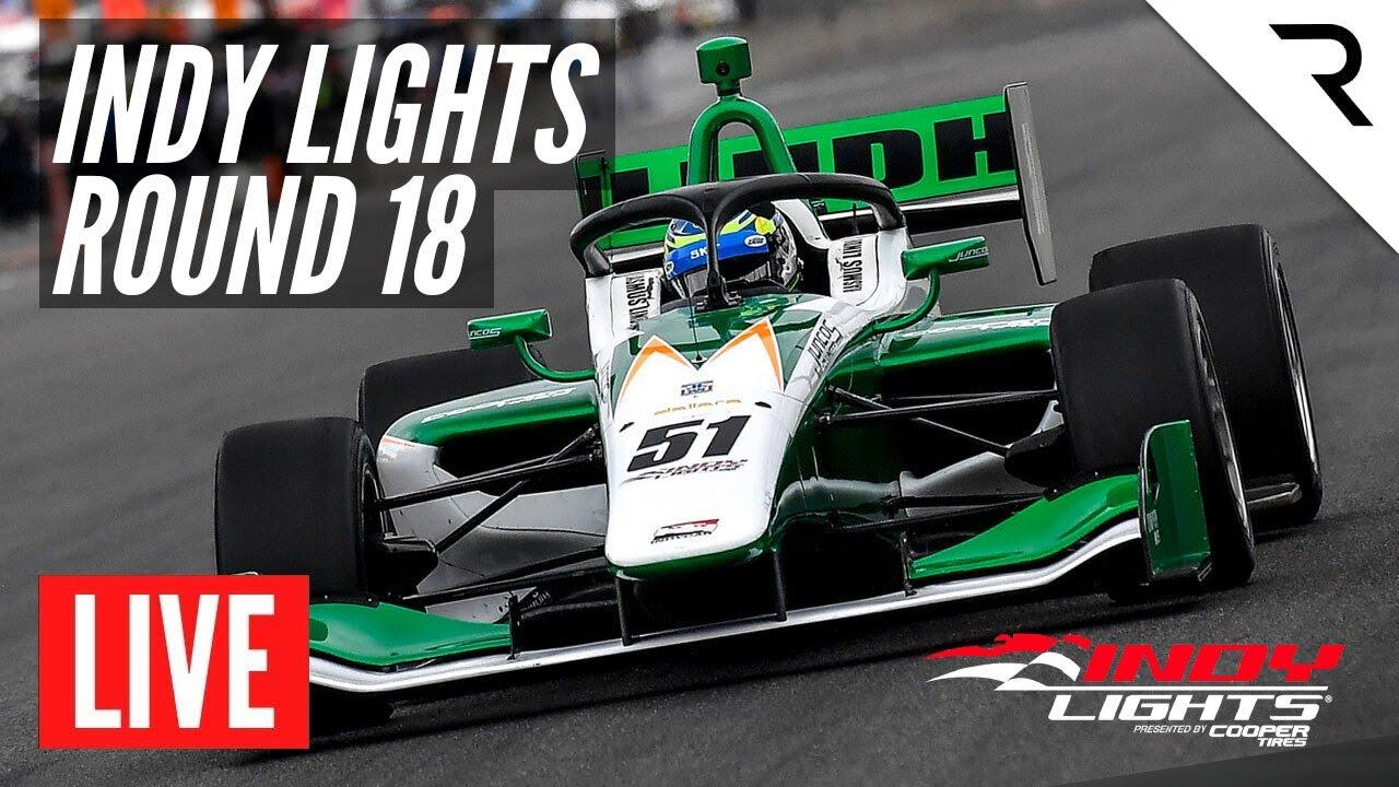 2021 Indy Lights Race 18  WEATHERTECH RACEWAY LAGUNA SECA  LIVE  Full Race