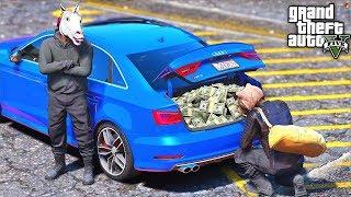 РЕАЛЬНЫЕ ПАЦАНЫ В GTA 5 - ОГРАБИЛИ БАНК НА 1.000.000$! ЦЕЛЫЙ БАГАЖНИК ДЕНЕГ! ⚡ГАРВИН