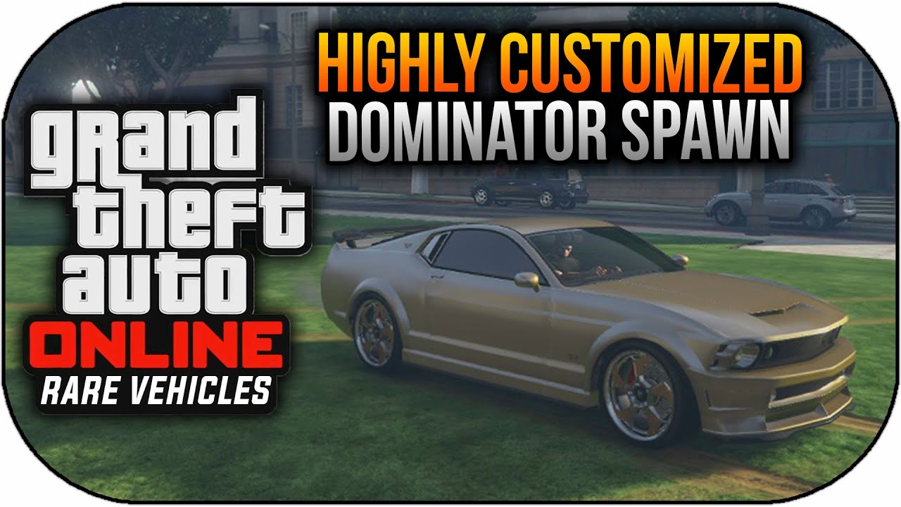 Gta Online Rare Secret Cars Free Customized Dominator Spawn