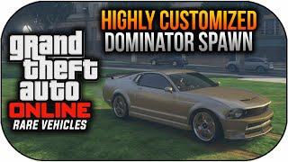 GTA 5 Online Rare & Secret Cars - FREE Customized DOMINATOR Spawn Location (GTA 5 Rare Vehicles)