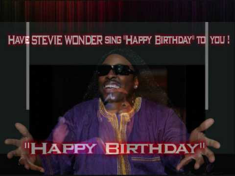 Stevie Wonder Happy Birthday.Stevie Wonder Sings Happy Birthday To You At Your Party Www Keviniszard Com