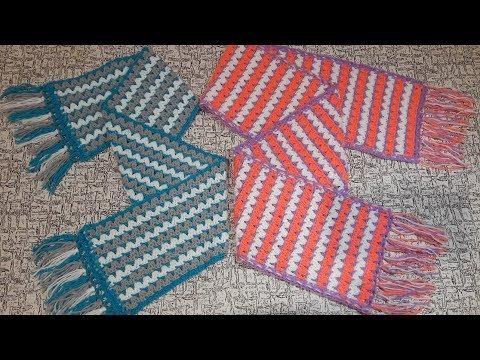 Вопрос: Как связать крючком шарф бабушкин прямоугольник?