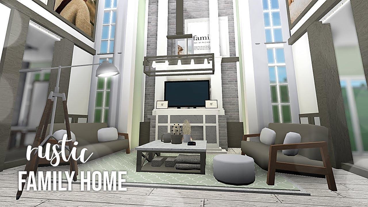 Roblox Bloxburg Rustic Family Home Youtube