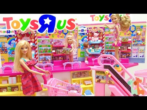 銉愩兗銉撱兗 銉堛偆銈躲倝銈广仹銇婅卜銇勭墿 銈枫儳銉冦償銉炽偘銉€兗銉� / Barbie Toy Shopping at TOYS  R  US