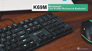 【irocks開箱】K69M輕薄金屬機械式鍵盤
