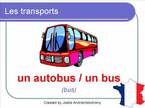 French Lesson 36 - MEANS OF TRANSPORT Transportation Vocabulary - Les Moyens de transport