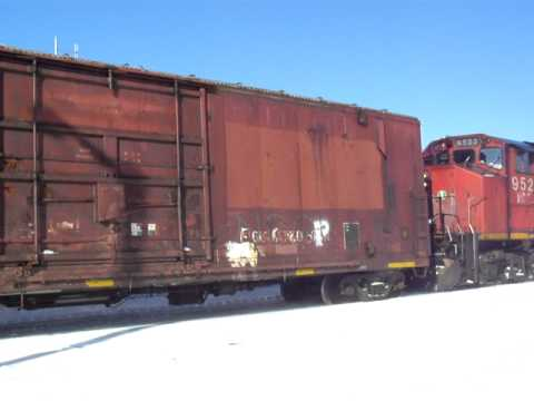 Hudson Bay Railway scruffing snow