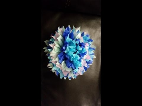 DIY: How to make flower from tissue paper birthday party wedding decoration