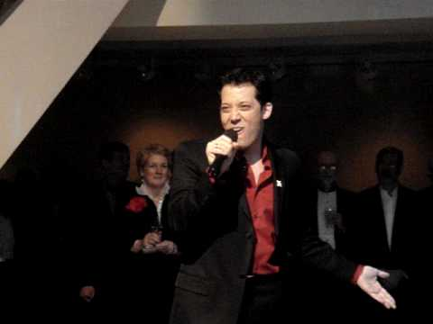 John Tartaglia sings at Christie's Auction house, Piano by Charlie Beale