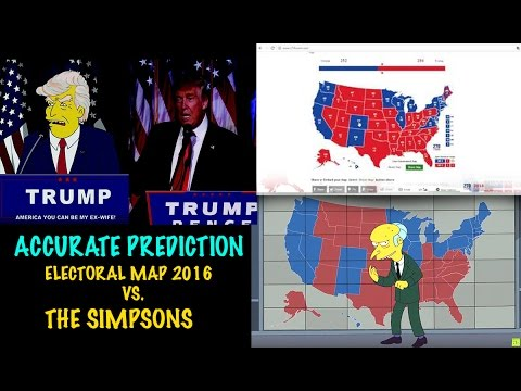 The Simpsons Predicted Near Exact Electoral Map In Addition To - Simpons us map vs real voters map