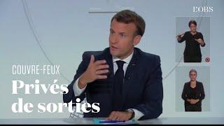 Le couvre-feu annoncé à Paris et dans 8 métropoles en France par Emmanuel Macron