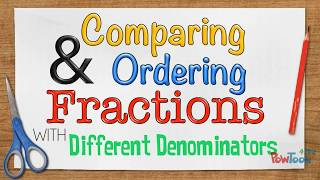 Comparing and Ordering Fracтions with Different Denominators (fraction strips)