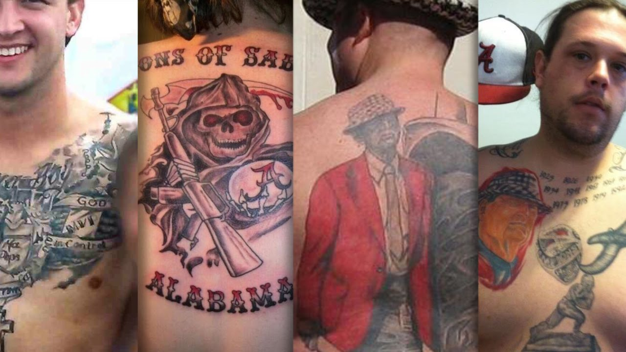 Alabama fans are no 1 in awful tattoos campusinsiders for Tattoos in tuscaloosa