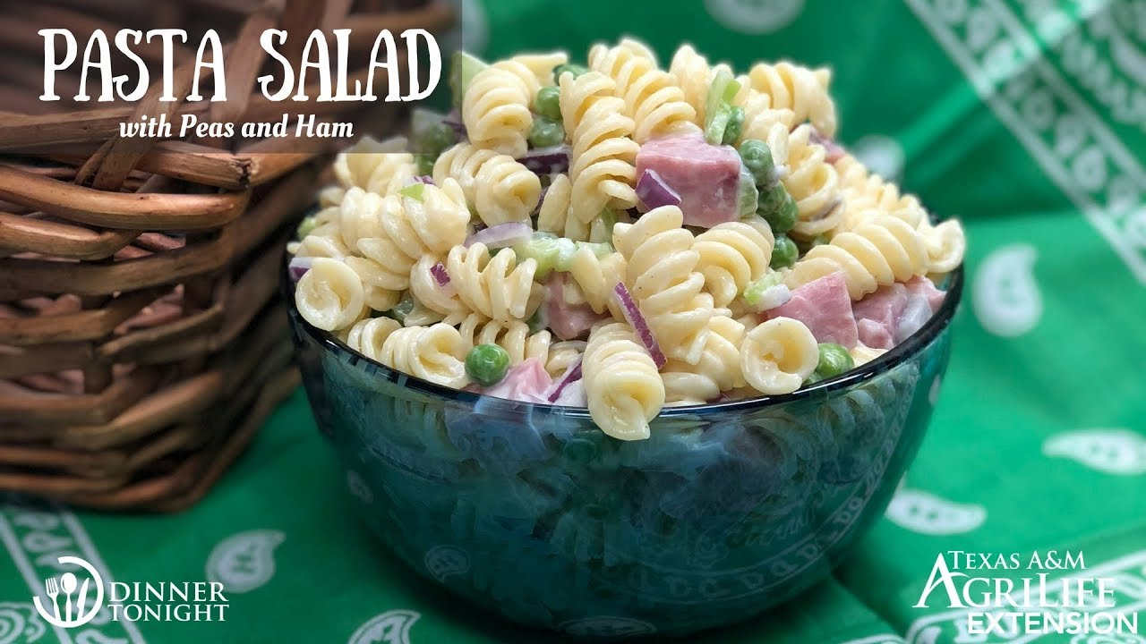 Pasta Salad With Peas And Ham