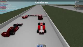 End of a ROBLOX F1 race