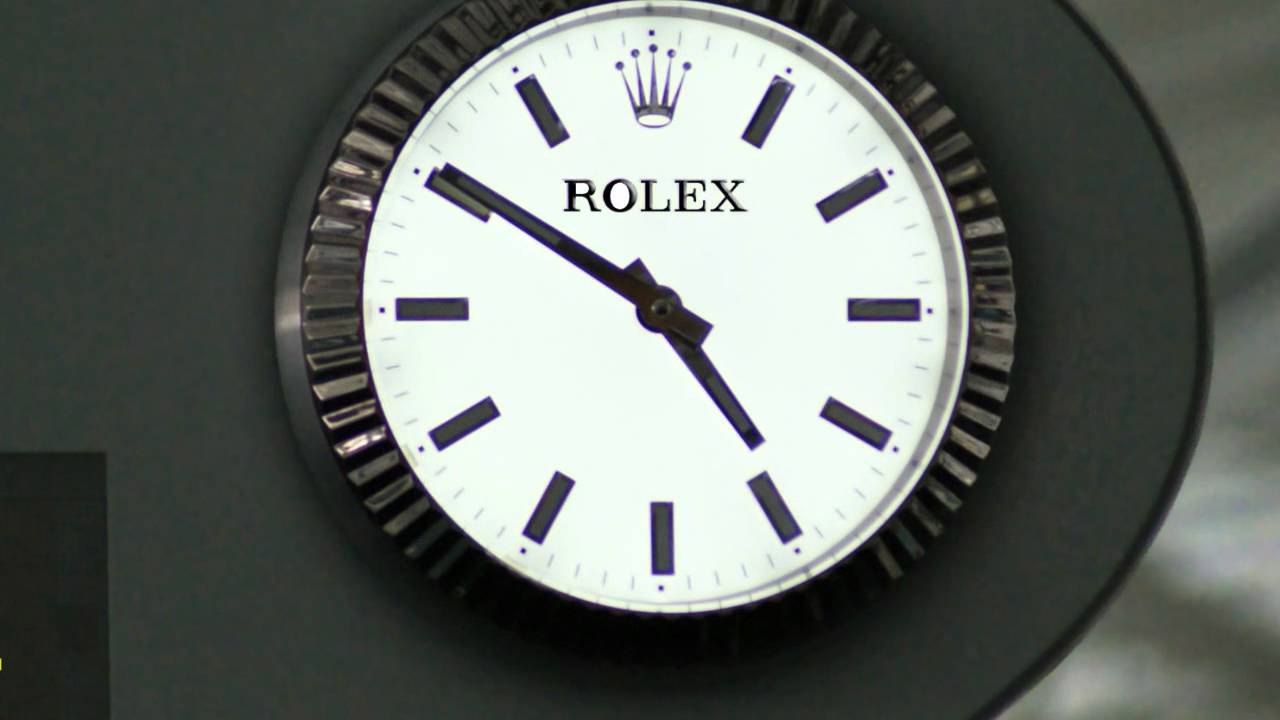 Jcdecaux france rolex clock sponsoring paris cdg airport youtube for Watches of france