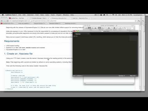 ExpressionEngine 2 Tutorials #19 - Removing Index.php From EE URLs