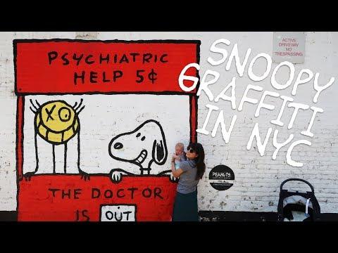 Peanuts Graffiti in New York City | #SnoopyGlobalArt