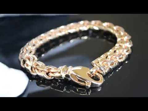 Мужской браслет Бисмарк из красного золота 585 пробы