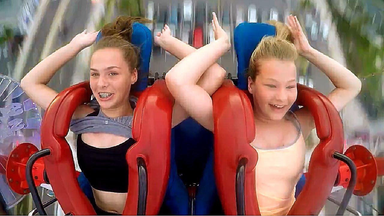 Girls No Hands Funny Slingshot Ride Compilation Youtube