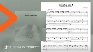 Campfire Var. 1 Sheet Music - Ludovico Einaudi - Piano Solo Seven Days Walking Day 2