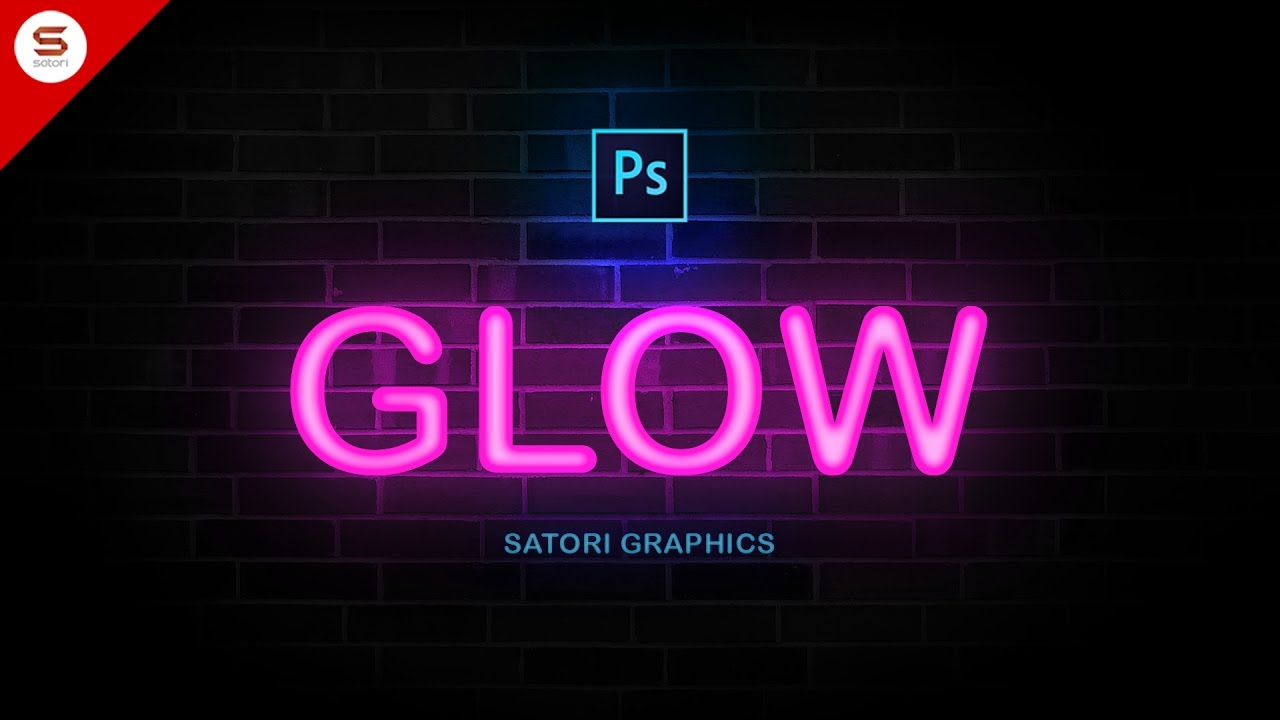 How to make neon type in photoshop youtube graphicdesign satorigraphics thecheapjerseys