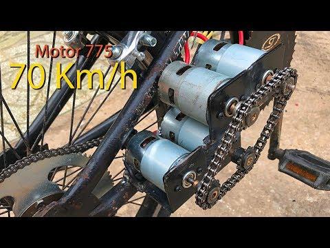 Chế Xe đạp điện Sử Dụng 4 Motor 775 Tốc độ 70km/h | DIY Make Electric Bike Using Motor
