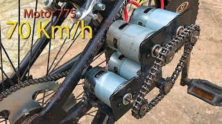 How to Make Electric Bike using 775 motor 4 70km/h