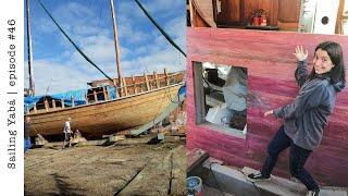 Rebuilding our schooner wİth PURPLE HEART wood! — Sailing Yabá #46
