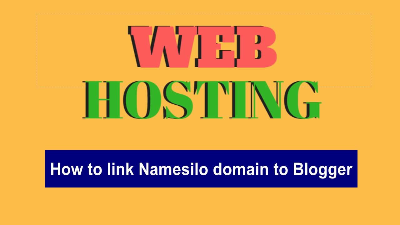 link namesilo domain to blogger - YouTube