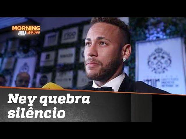 Neymar quebra o silêncio sobre críticas em evento de gala