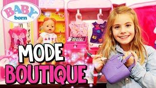 BABY BORN SHOPPING in der neuen Mode Fashion Boutique 👗 Puppen Mode 👗 Spielzeugtester