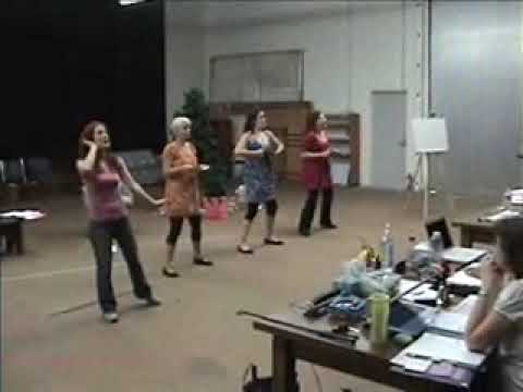 Laguna Playhouse 2 Minutes of Theater: Winter Wonderettes rehearsal