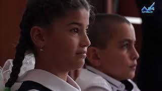 Глава КЧР Р.Темрезов в День знаний провел урок знаний в новой школе а. Кара-Паго