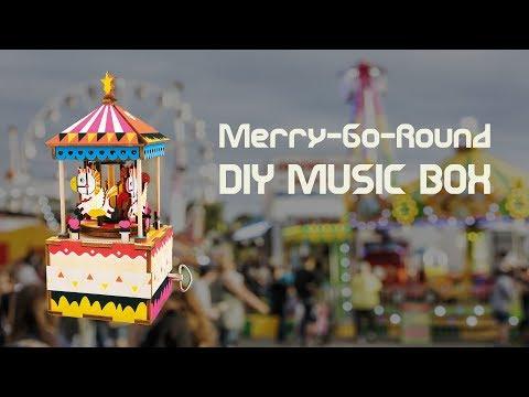Merry Go Round DIY Music Box by Robotime