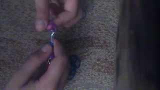 видео урок по плетению из резинок/звездочка