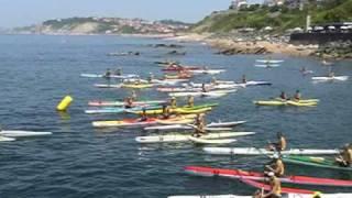 Guethary ocean outrigger canoe  race 2009   oc1 / oc2