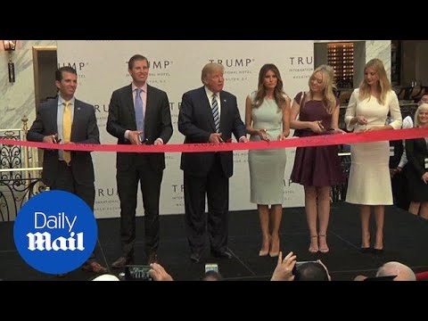 Trump cuts ribbon of new hotel in Washington, DC, in October - Daily Mail
