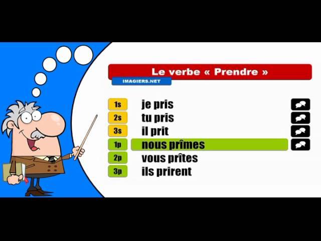 La Conjugaison Du Verbe Prendre Indicatif Passe Simple Youtube