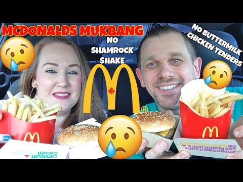 MCDONALDS MUKBANG | NO BUTTERMILK CHICKEN TENDERS & NO SHAMROCK SHAKE