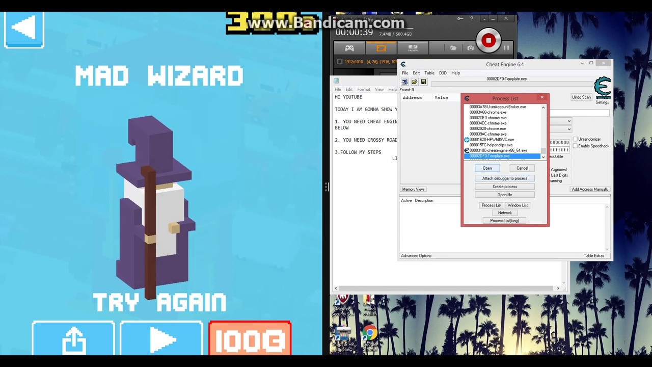 HOW TO HACK CROSSY ROAD WITH CHEAT ENGINE ON WINDOWS 7/8.1 - YouTube