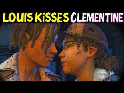 Louis & Clementine KISS (Louis Romance) - The Walking dead Final Season Episode 2
