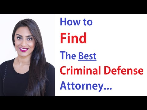 How to Find a Criminal Defense Attorney