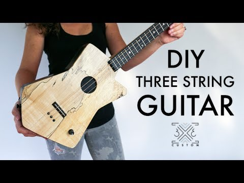 Diy 3 string cigar box guitar