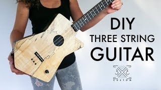 Making a Three String Guitar // Cigar Box Guitar // DIY // Woodworking