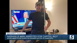 FBI arrests Nashville zip-tie suspect from assault on U.S. Capitol