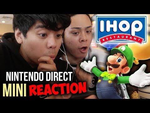 Download Youtube: REACTING to the Nintendo Direct Mini 2018 @ IHOP [MARIO TENNIS ACES, LUIGI ODYSSEY DLC + MORE]